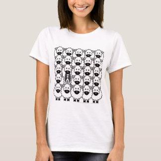 T-shirt Border collie Lisse-Enduit chez les moutons