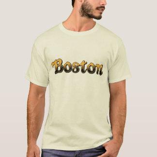 T-shirt Boston rayé jaune et noir