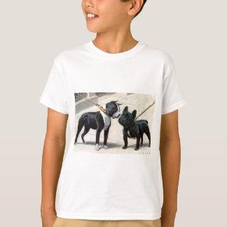 T-shirt Boston Terrier et bouledogue français