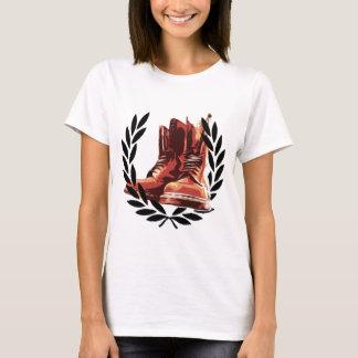T-shirt bottes de peaux
