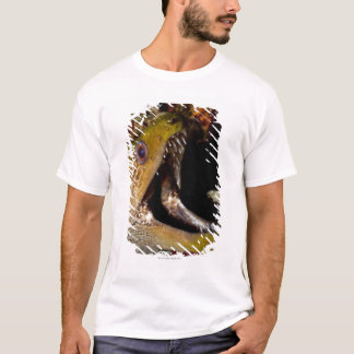 T-shirt Bouche de baîllement et de intimidation d'un