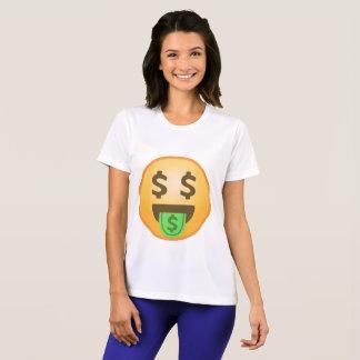 T-shirt Bouche Emoji d'argent