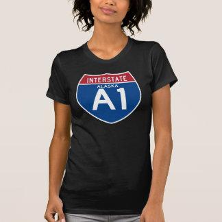 T-shirt Bouclier d'autoroute nationale de l'Alaska AK I-A1