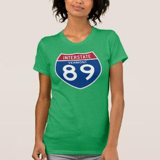 T-shirt Bouclier d'autoroute nationale de VT I-89 du