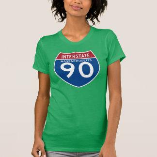 T-shirt Bouclier d'autoroute nationale du Massachusetts mA