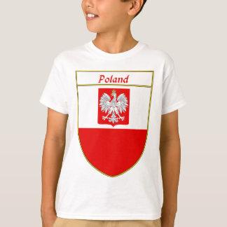 T-shirt Bouclier de drapeau de la Pologne