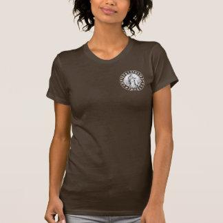 T-shirt bouclier de Freya Rune de poche sur le noir