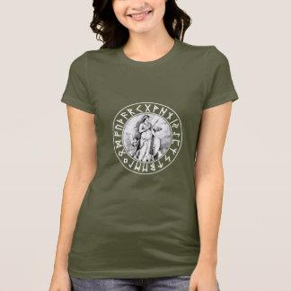 T-shirt bouclier de la chemise H Freya Rune sur le noir