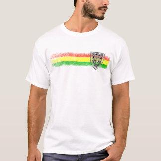 T-shirt Bouclier de reggae de Rasta de David