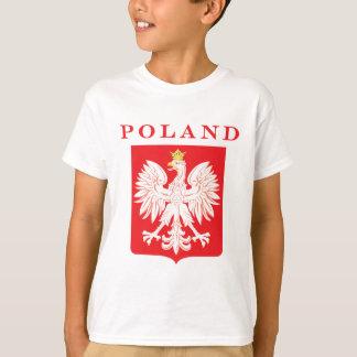 T-shirt Bouclier de rouge de la Pologne Eagle