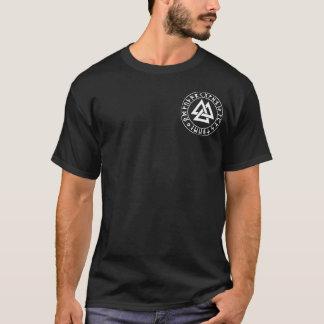 T-shirt bouclier de Rune de Tri Triangle de poche sur le