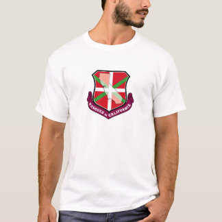 T-shirt Bouclier d'Ikurrina : Basques en Californie,