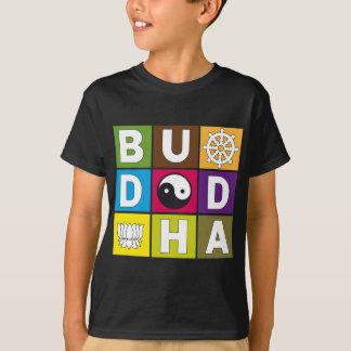 T-shirt Bouddha a coloré des blocs