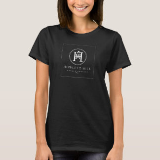 T-shirt Bougie Cie. - logo blanc de colline de Howlett