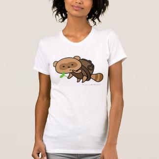 T-shirt - bouilloire Tanuki avec le feuille