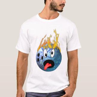 T-shirt Boule de bowling flamboyante folle