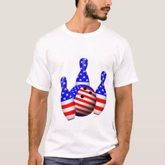 T-shirt Boule de bowling patriotique
