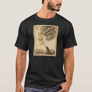 T-shirt Boule de canon humaine d'affiche vintage de cirque