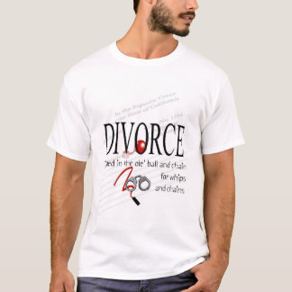 T-shirt Boule et chaîne de divorce