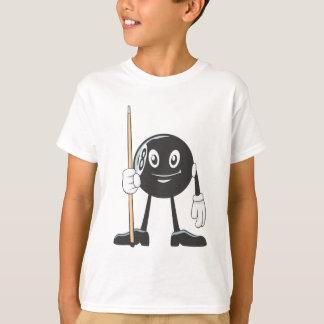 T-shirt Boule heureuse du billard huit