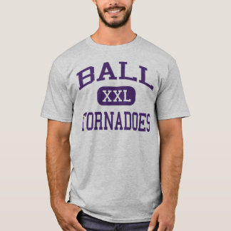 T-shirt Boule - tornades - lycée - Galveston le Texas