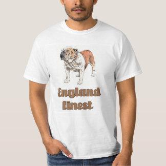T-shirt Bouledogue anglais - Angleterre la plus fine