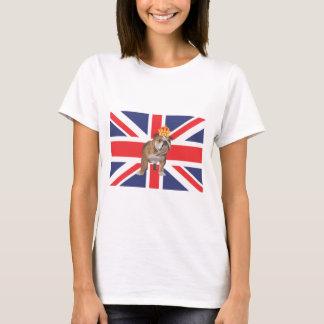 T-shirt Bouledogue anglais avec la couronne et l'Union