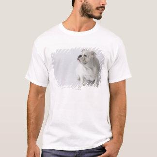 T-shirt Bouledogue anglais blanc