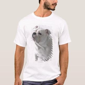 T-shirt Bouledogue anglais blanc se reposant dans le