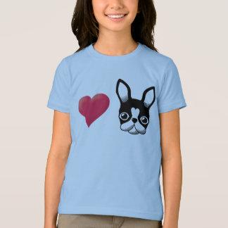 T-shirt Bouledogue français d'amour/noir de Boston