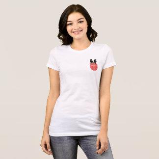 T-shirt Bouledogue français de Bonjour dans une poche