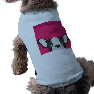 T-shirt Bouledogue français d'illustration avec l'arrière