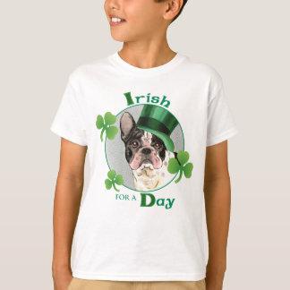 T-shirt Bouledogue français du jour de St Patrick