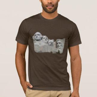T-shirt Bouledogue sur le mont Rushmore