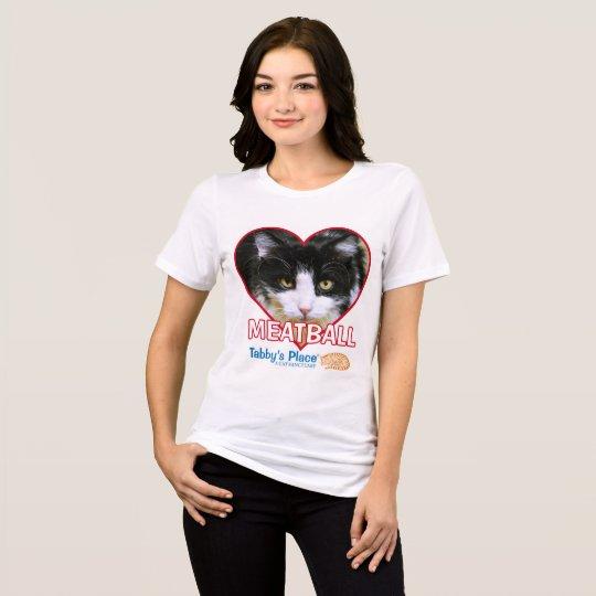 T-shirt Boulette de viande - pièce en t détendue du Jersey