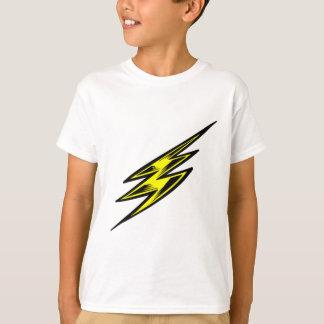 T-shirt Boulon de foudre jaune électrique