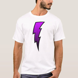 T-shirt Boulon de foudre - pourpre
