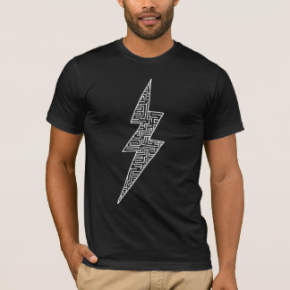 T-shirt Boulon de labyrinthe (blanc)