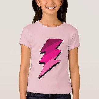 T-shirt Boulon de tonnerre rose de foudre