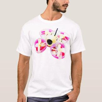 T-shirt Bourdon minuscule jaune/rose carré de huée