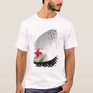T-shirt Bourgeon floral de sucrerie dans la cuvette