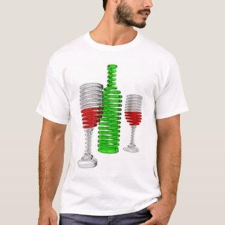T-shirt Bouteille et verres de vin
