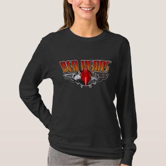 T-shirt Bouton principal rouge de poulet