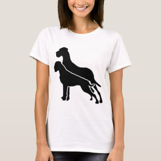 T-shirt Boxeur and great dane