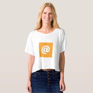 T-shirt Boxy orange de dessus de culture de