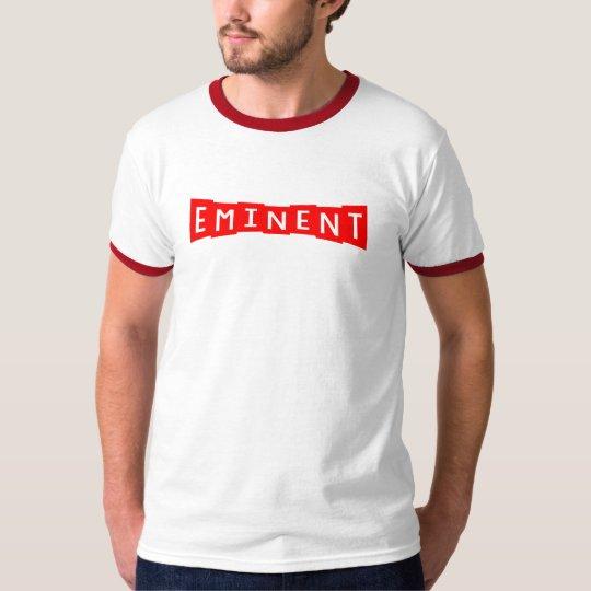 T-shirt Brand Logo (Red) - White Tee
