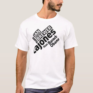 T-shirt Brasseur de janv. plus de Cajones que Barack Obama