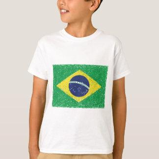 T-shirt Brésilien de *Hand-sketch* de drapeau du Brésil