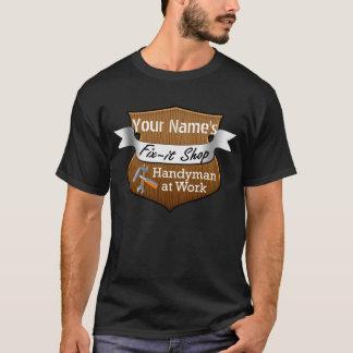 T-shirt Bricoleur personnalisé Difficulté-il nom fait sur