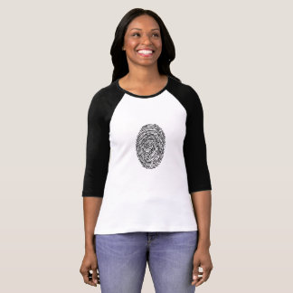 T-shirt Brillamment vous chemise d'empreinte digitale
